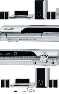 Home Theater 5.1 800W com DVD Player, Foto CD e Divx DAV-DZ120k