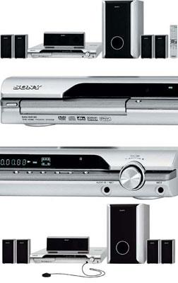 Home Theater 5.1 800W com DVD Player, Foto CD e Divx DAV-DZ120k