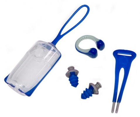 Aquasphere Nose Clip / Ear Plug Combo Navy