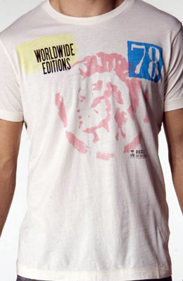 Diesel Taccolone Tee in White