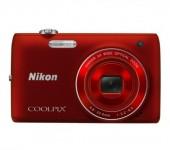 "Câmera Nikon CoolPix S4100 / Vermelha / 14MP / 5X Zoom / LCD 3\"""